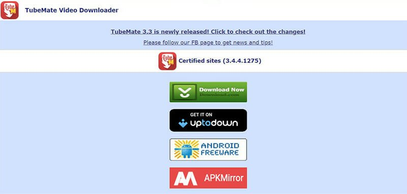 Tubemate is the Best for free video downloads and MP3 conversion on Android