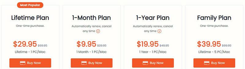 VidJuice Pricing Plan