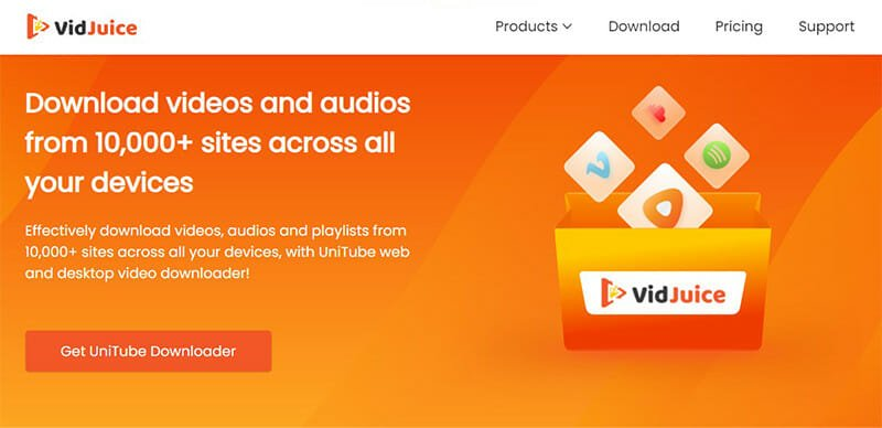 VidJuice is the Best for downloading exclusive content and trimming videos