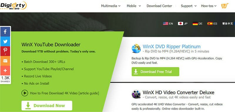 WinX YouTube Downloader is the Best for free and fast downloads of 4K videos
