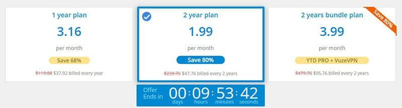 YTD Video Downloader Pricing Plan